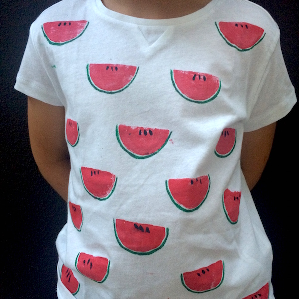 T shirt con le angurie stampini patate