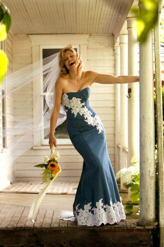 riciclare jeans sposa