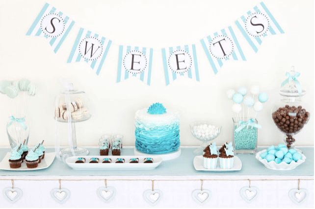 baby shower party per lui